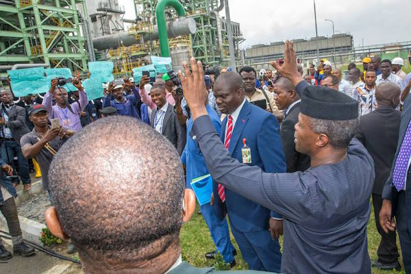 Osinbajo Commissions Fertilizer Plant In Rivers State (Photos)