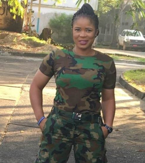 Meet Hot Looking Nigerian Female Soldier Who Is Also A