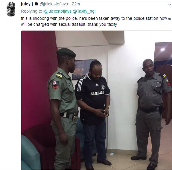 Taxify Driver Who Squeezed Passengers Tips Arrested
