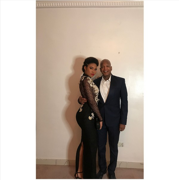 Ex Most Beautiful Girl In Nigeria, Anna Banner Poses With Her Handsome Dad (Photos)