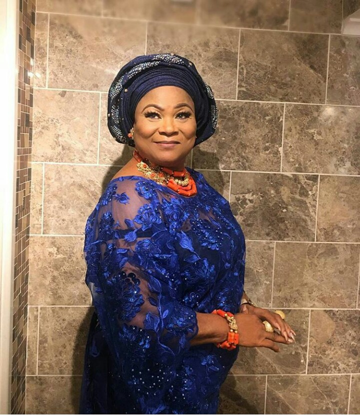 Check Out Actress Sola Sobowale's Gorgeous Look To An Owambe Party (Photos)
