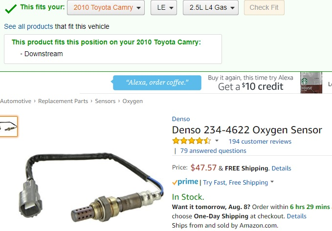 Where Can I Get This Oxygen Sensor In Nigeria And Price For