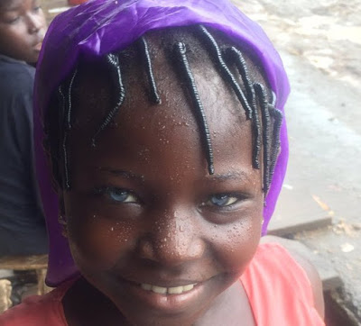 Girl with natural blue eyes spotted in Nassarawa - see photos