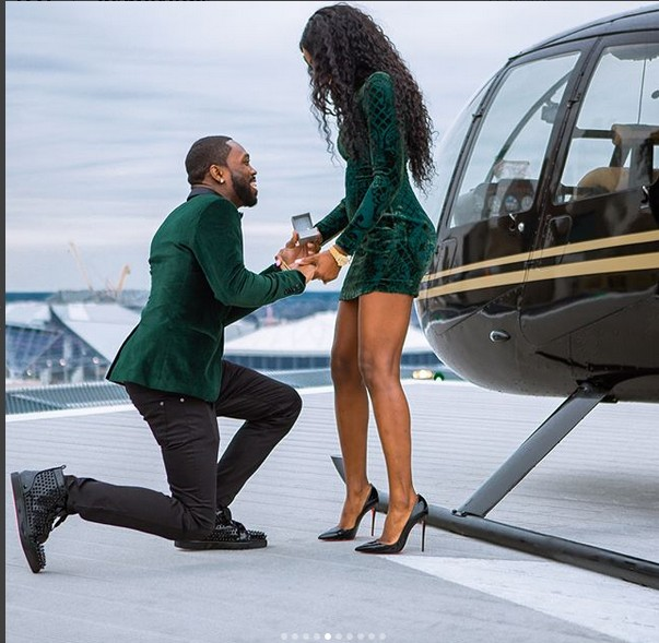 Man Proposes To His Girlfriend Beside A Helicopter Photos Romance
