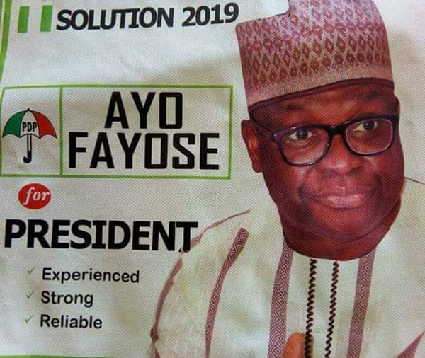 Ayo Fayose For President Posters Displayed At PDP National Non-Elective Convention