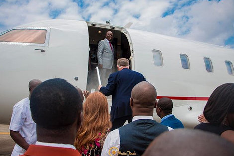 Photos of Bishop Oyedepo's private Jet
