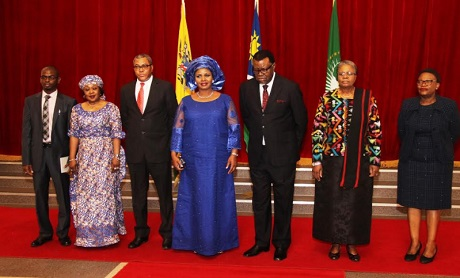 Bianca Ojukwu's Sister Received As Ambassador Of Namibia In A Special Ceremony (Pics)