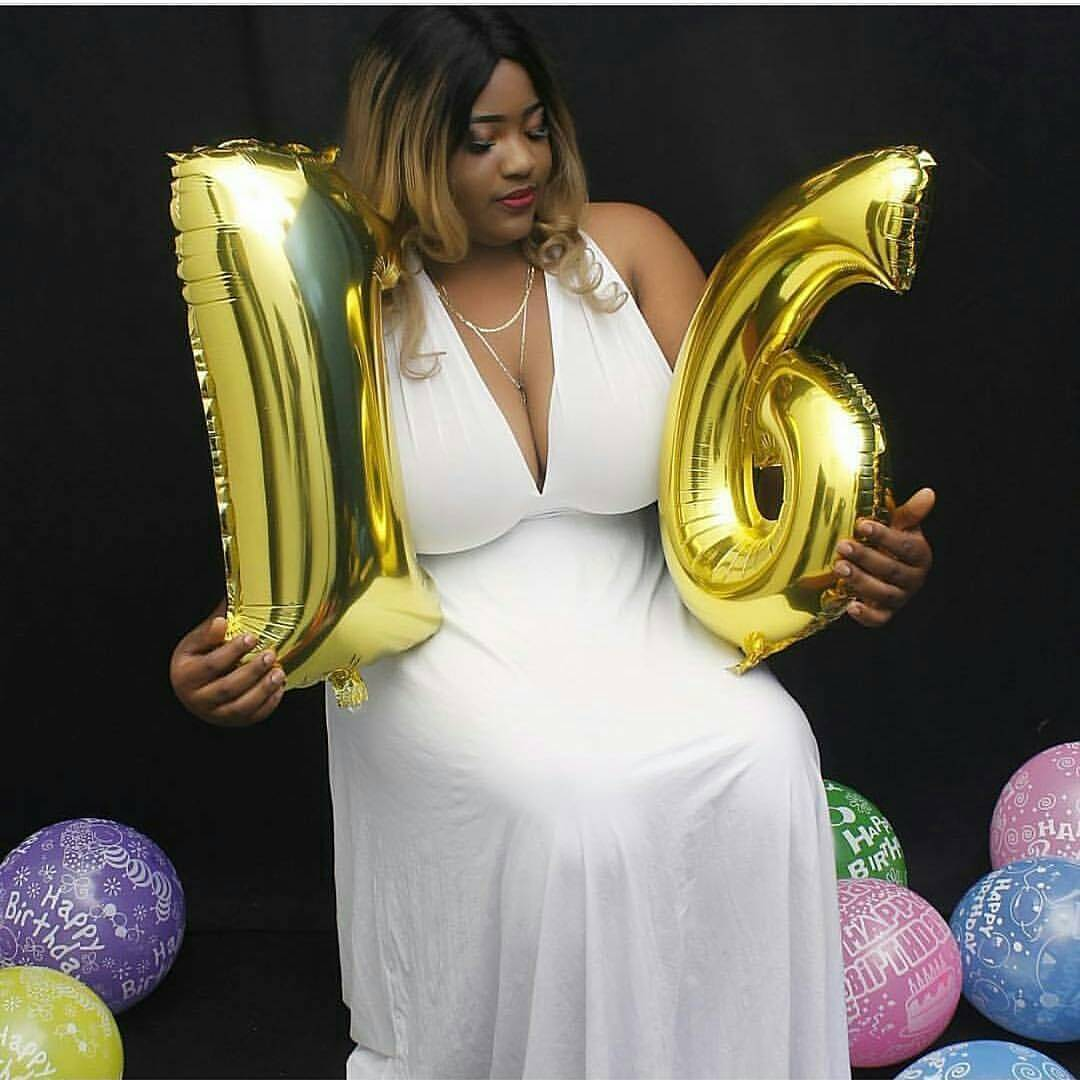 "See Reactions As Busty Lady Celebrates Her ""16th"" Birthday (Photos)"