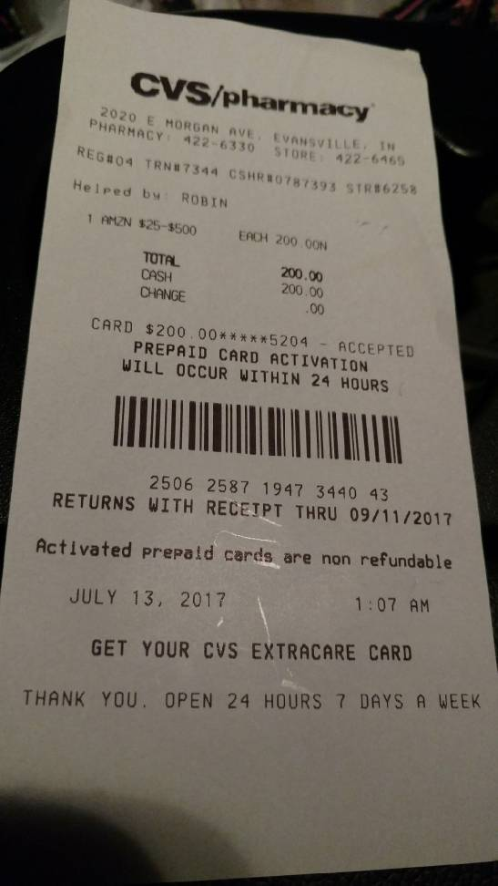 Picture Of Amazon Gift Card $50