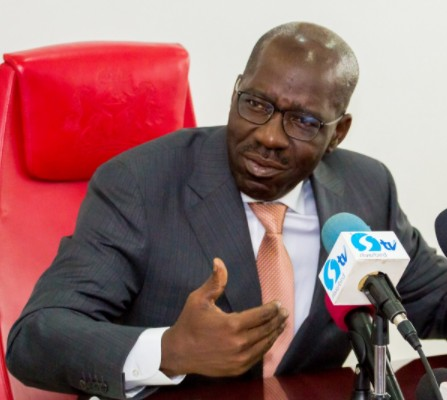 Edo Governor, Obaseki, Storms Out Of APC Meeting Over Impeached Speaker