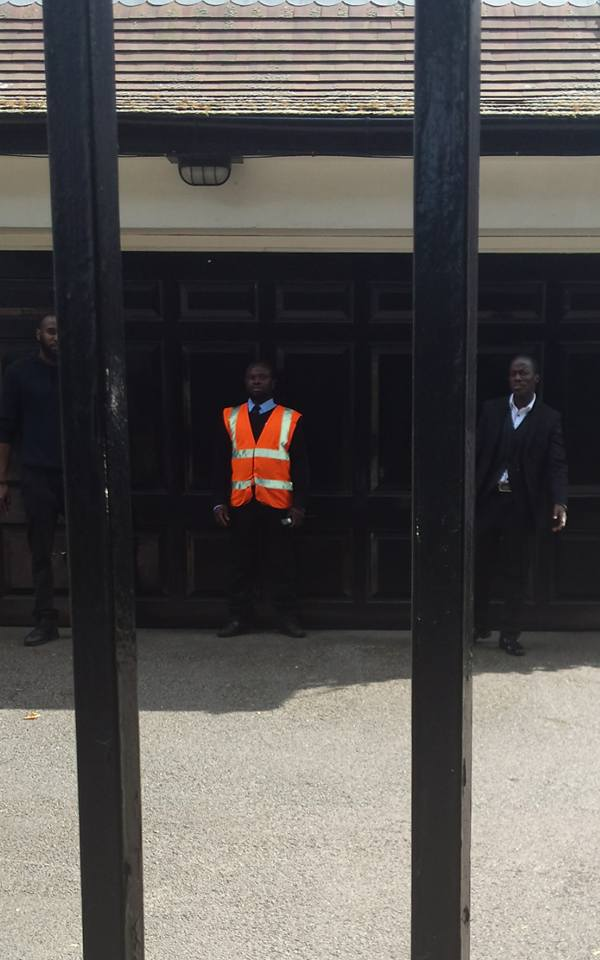 President Buhari's Security Aides Spotted Outside Abuja House In London (Photos)