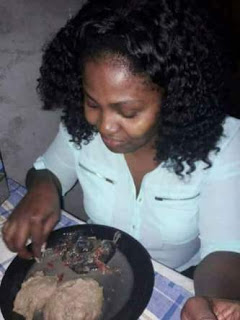 See The Rat Soup Delicacy This Lady Is Enjoying, Trending On Facebook.