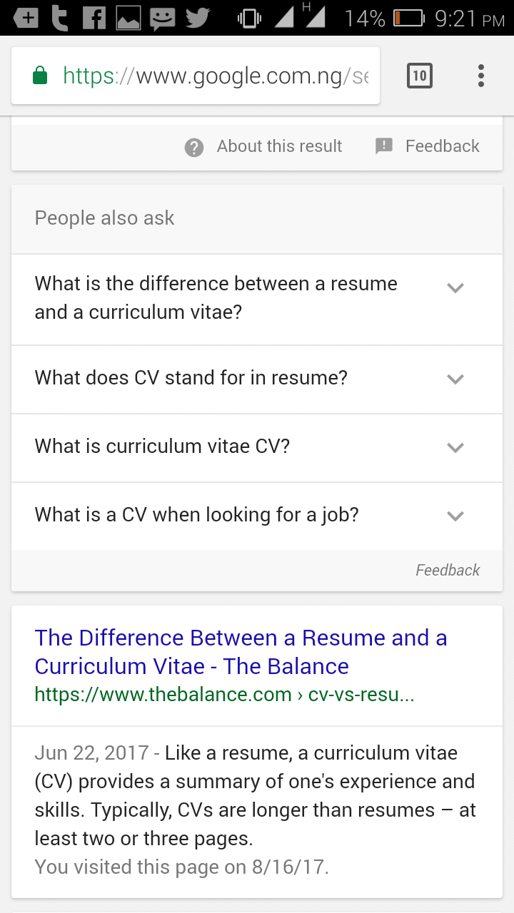 the difference between a resume and a cv i bet you didn t know