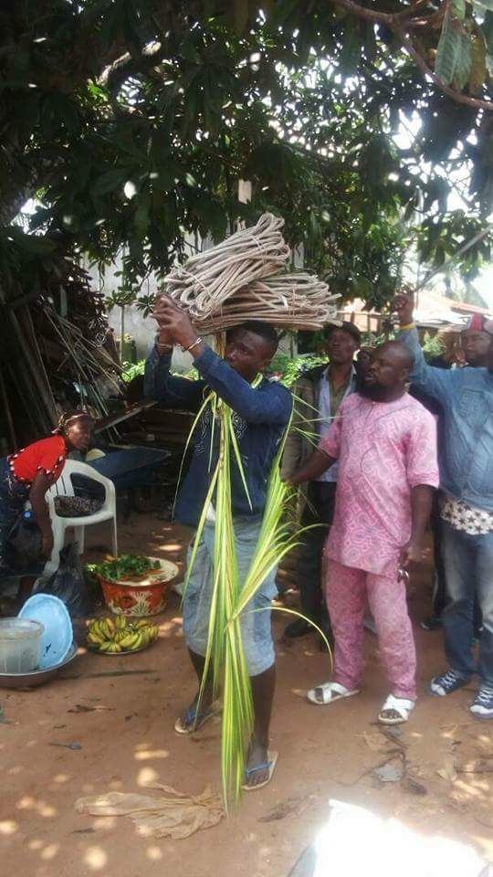 Boy Caught Stealing Electric Wires In Anambra Paraded Wit Wires He Stole(pics)
