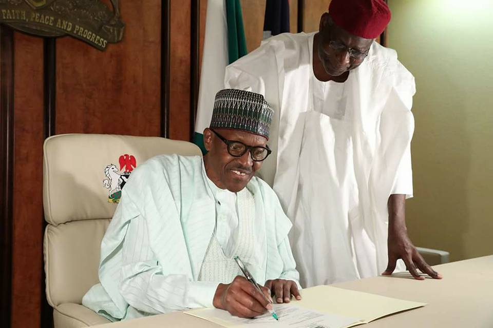 President Buhari Officially Resumes Work As He Writes To National Assembly (PHOTOS)