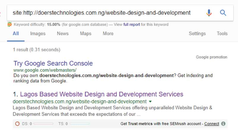 how to find out if your website is listed on search engines