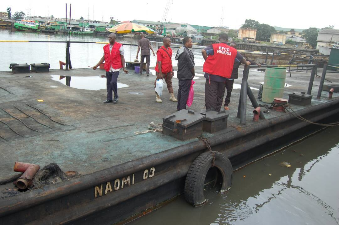 EFCC Parades 13 Oil Thieves In Port Harcourt [PHOTOS]