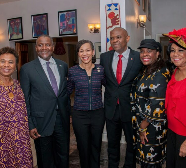 Tony Elumelu And Aliko Dangote Host America's Congress Members