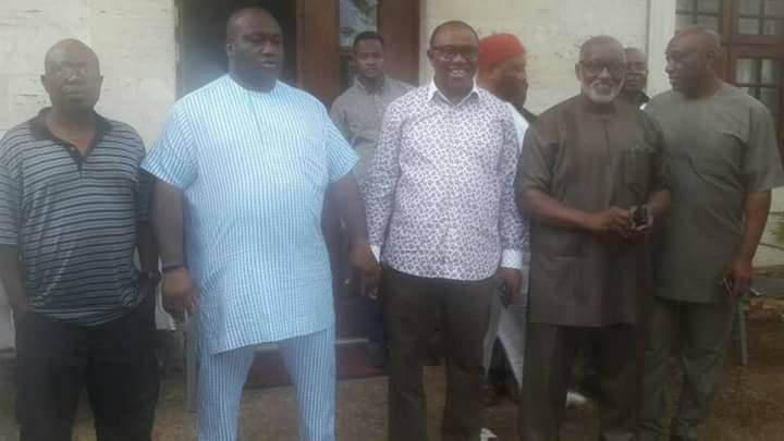 Anambra PDP Primaries: Peter Obi, Obaze Hold 7 Hour Meeting With Ifeanyi Uba (Pics)