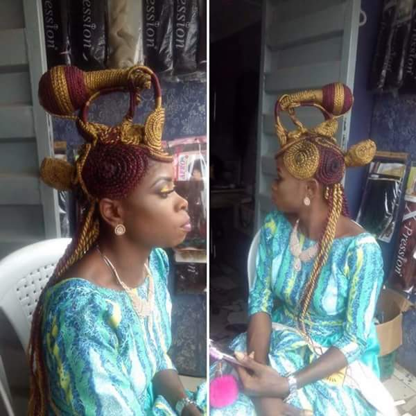 "A Lady's ""Sewing Machine"" Hairstyle Goes Viral (Photos)"