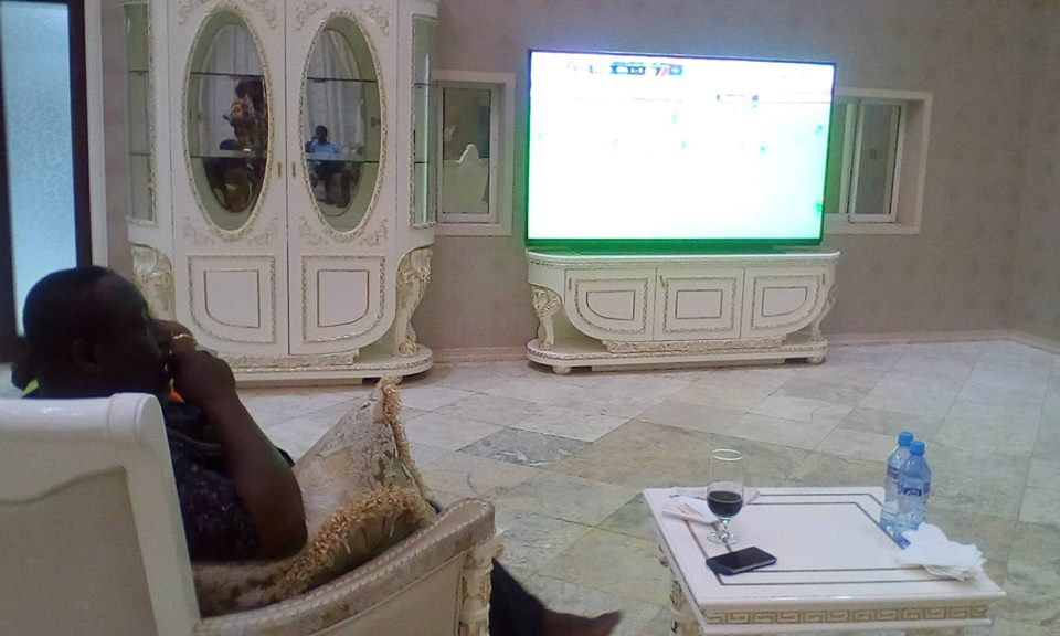 Governor Okorocha Spotted Watching Super Eagles Vs Cameroon Match (Photos)