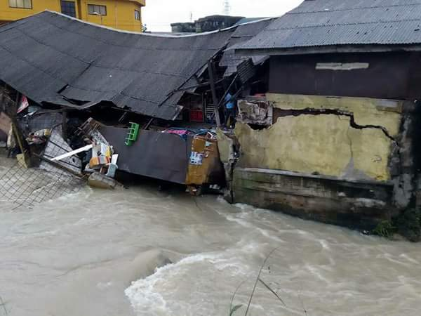 Computer Village In Port Harcourt Collapses After Heavy Rainfall (Photos)