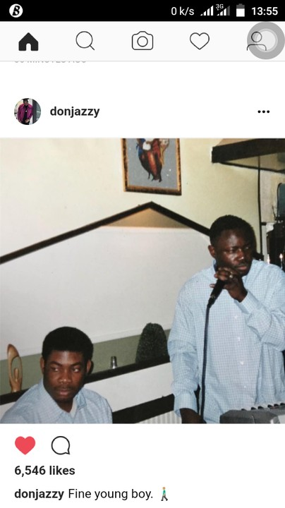 don jazzy shares throwback photo captions it young fine boy