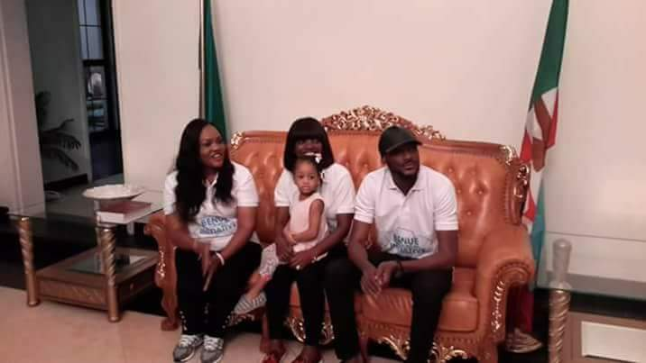 Image result for 2face, Annie donate to IDPs in Makurdi