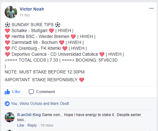Winning Daily With Unfailing 7 Odds - See Photos - Sports