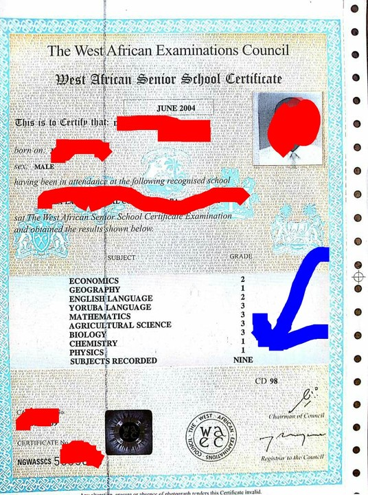 Meaning Of CD Number On A WAEC Certificate - Education - Nigeria
