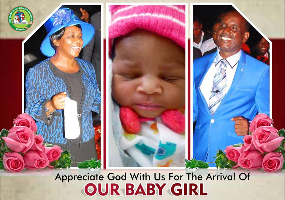 Rev. Michael Ewache Dedicates First Child After 32 Years Of Childlessness