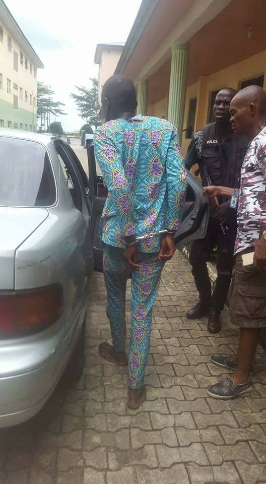 Man Steals Phone In Church In Bayelsa During Service, Gets Arrested, Handcuffed
