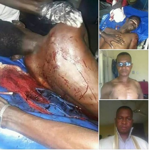 Drunk Policeman Shoots 3 People At Child's Dedication In Warri. Graphic Photos