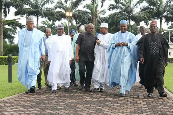 Northern Governors meet with Wike, Ikpeazu