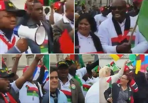 IPOB Members Storm UN Office To Protest Against President Buhari (Pics, Video)