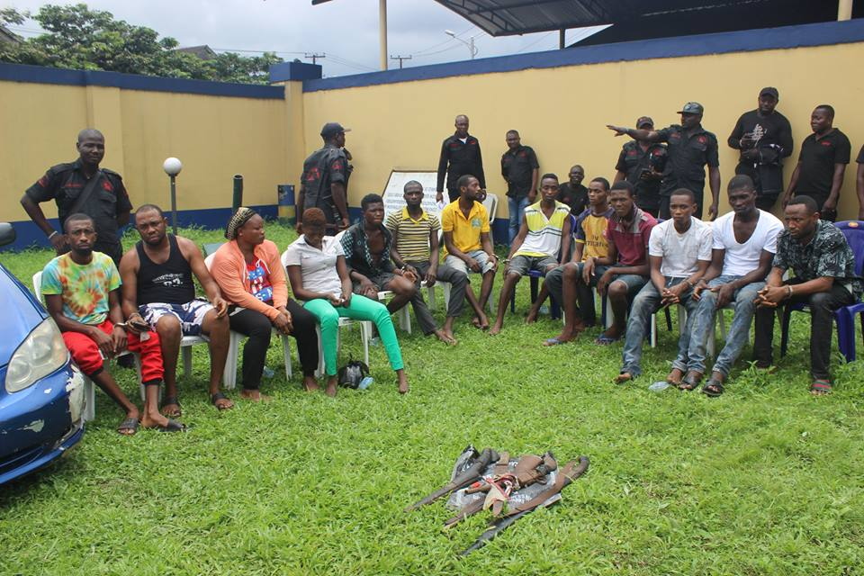 Notorious Cultist Who Killed Over 30 People Paraded With Other Criminals (Photos)
