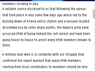 RationalTV: Breaking: Nigeria Army On A House To House Arrest Of IPOB In Abia