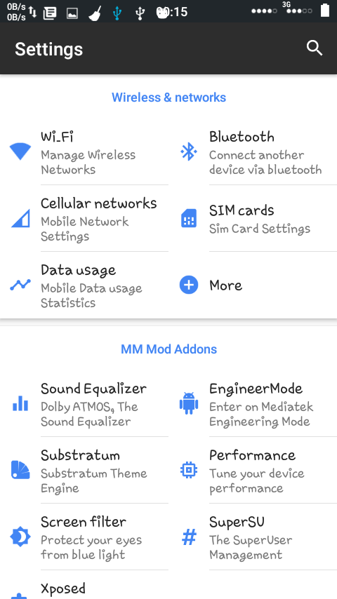 Android Nougat Mod Custom Rom For Tecno W3 (ScreenShots