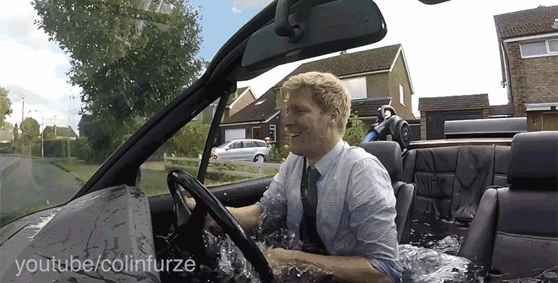 Man Turns A BMW Into A Hot Tub And Takes It For A Spin (Video)