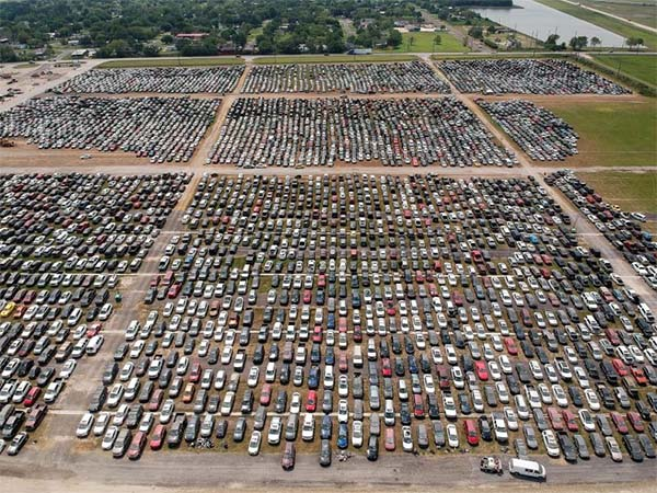 Beware: Flooded Cars From Hurricane Harvey Are Getting Lined Up Already (Photos)