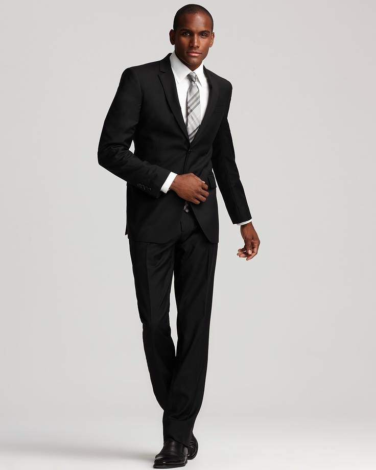 man in black suit and goodman Free shipping and free returns on men description: exclusively ours brioni two-piece suit in box check notch lapel two-button front.