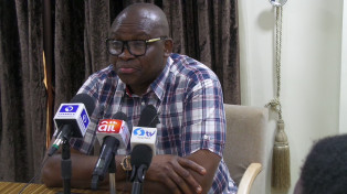 Governor Ayodele Fayose of Ekiti state has boasted that he will take over power from President Muhammadu Buhari in the 2019 election. The governor made the statement when he  informed the Peoples Democratic Party (PDP)about his intention to contest for the position of president of Nigeria under the party's platform in 2019. In his speech on Thursday, September 28, below are some of the promises he made: 1. Fayose stated: