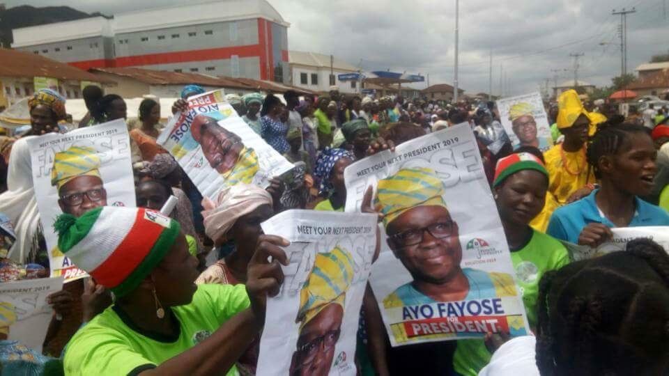 Image result for Fayose Receives Rousing Welcome In Ikere Ekiti [PHOTOS]