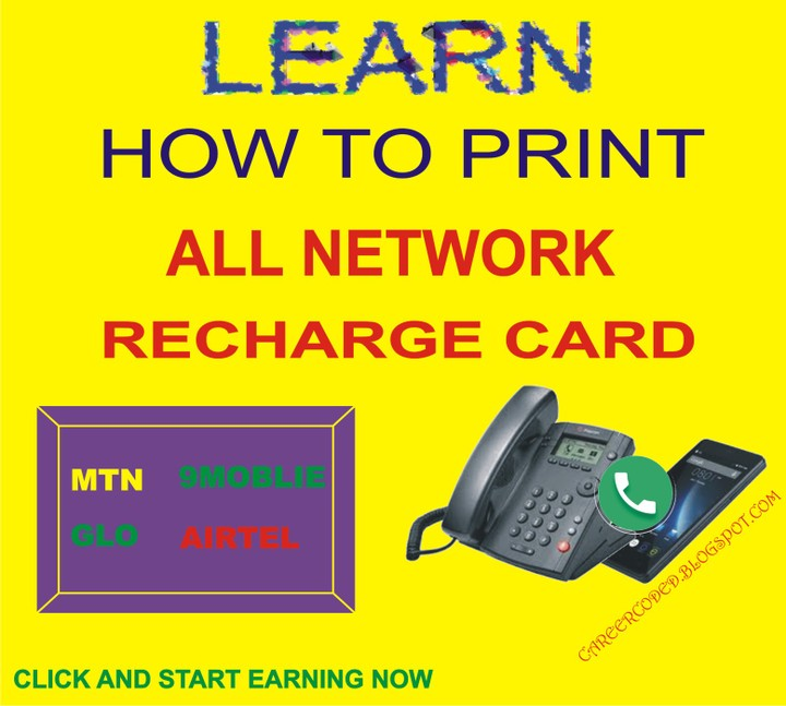 Earn Income With Recharge Card Printing Business For All Networks In