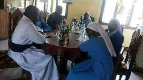 Reverend Father And Reverend Sisters Spotted Chilling With Bottles Of Beer (Photos)