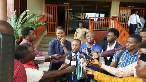 N500 Million Lawsuit: Charly Boy In Court Premises (Full Details & Photos)