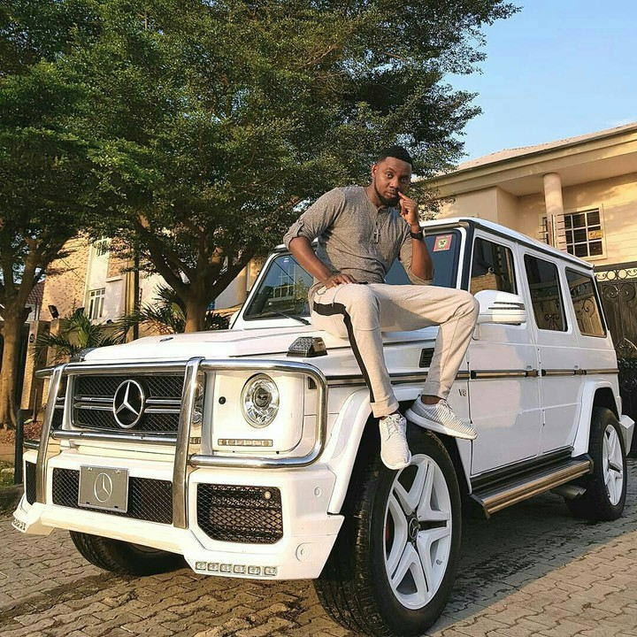 Comedian Ay Poses With White G Wagon Celebrities Nigeria