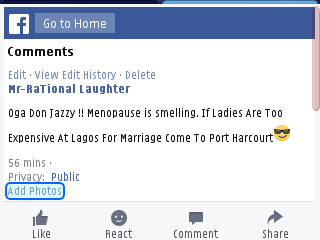 The marriage issue is becoming very stronger and alarming  nowadays as all nigerians want right now is to Make Sure that the Ace producer and Mavin Boss [b] Don Jazzy [/b] gets married byfire byforce. . After alot of fans bash and open letter about his marital  status urging him to get marriage as soon as possible.    This facebook user gave him the best solution on how to find a quick wife. If search may be the case.  I came across this post on facebook where the poster recognized as [b]''Mr Rational Laughter'' [/b] dropped an advice to  the Mavin Boss on how to get easy wife and quit the search.  He redirected him straight to  the third most developed city and Rivers state capital [b]Port Harcourt.[/b]   Bellow is the write '' Oga Don Jazzy !! Menopause is smelling.  If Ladies Are Too Expensive At Lagos For Marriage Come To Port Harcourt '' See friends reactions and Screenshoot bellow