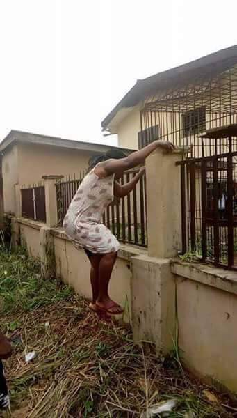 {filename}-Mother Climbs School Fence In Anambra To Collect Her Kid Over Monkeypox Rumors