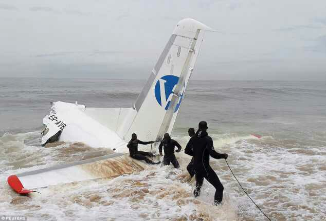 Planes Crashes Into The Sea In Ivory Coast During Landing, 4 Dead (Photos)